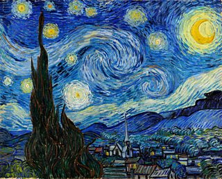 The Starry Night, Vincent Van Gogh, 1889, oil on canvas
