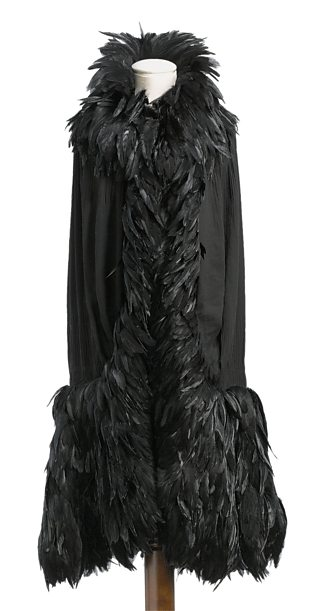 Black chiffon cape, Coco Chanel, c.1920s, Christie's Images / Bridgeman Images