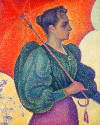 Woman with a Parasol, Paul Signac, 1893, oil on canvas, The Print Collector / AlamyStock Photo