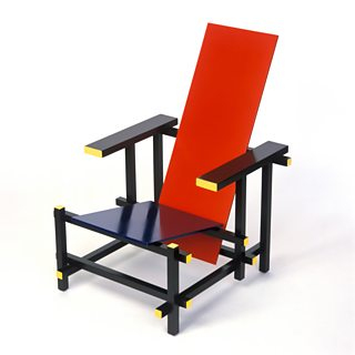 Red-Blue Chair, Gerrit Rietveld, 1917, wood, c1923-25, Picture Partners / Alamy Stock Photo