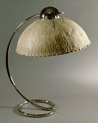 Modernist Lamp, Franco Albini, c.1930, metal and paper