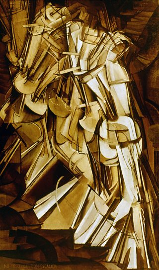 Nude Descending a Staircase, No. 2, Marcel Duchamp, 1912, oil on canvas