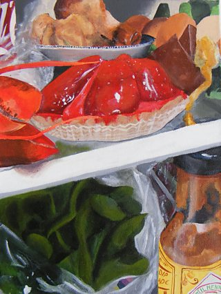 Student acrylic painting of food.