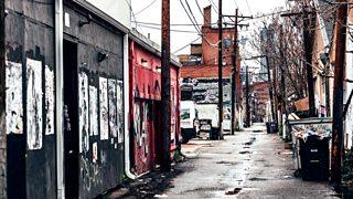 A gritty, urban street