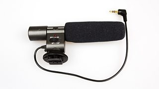 An external microphone for recording sound with a DSLR