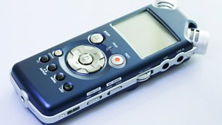 An external recorder used for recording sound seperately from the camera