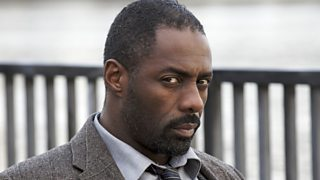 A close-up of Idris Elba as Luther