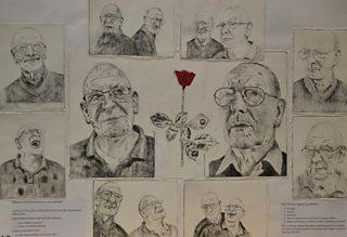 Student development studies for double portrait