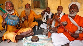 A group of Indian musicians