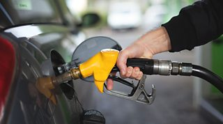 Filling a car at a filling station