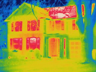 Thermogram image of a house