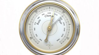 Photograph of a barometer