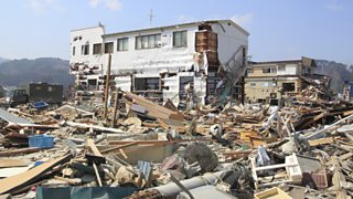 Photograph of earthquake destruction in Japan