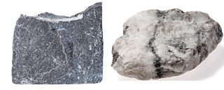 Photograph of slate and marble