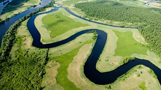 Photographs of meanders