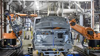 Robots at work - an example of capital intensive production