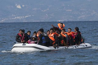 Photograph of refugees in Turkey