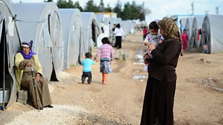Photograph of Syrian refugee camp in Suruc, Turkey
