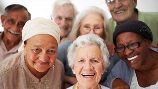 Photograph of elderly people