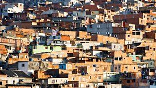a favela in São Paulo