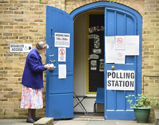 Outside a polling station