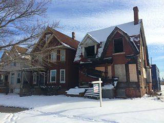 A derelict house in Detroit