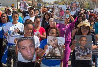 Protest march against gun violence, Detroit, 2015