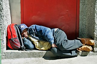 Homeless man, Manhattabn, New York