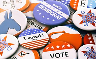 Election badges for US political parties