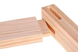 A mortise and tenon joint