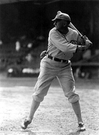 A photo of Shoeless Joe Jackson, batting practice, Chicago White Sox, 1920