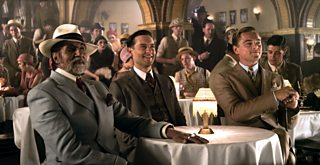 A photo of Meyer Wolfsheim, Nick Carraway and Gatsby from The Great Gatsby movie (2013)