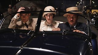 A photo of Nick, Jordan and Tom in The Great Gatsby movie (2013)