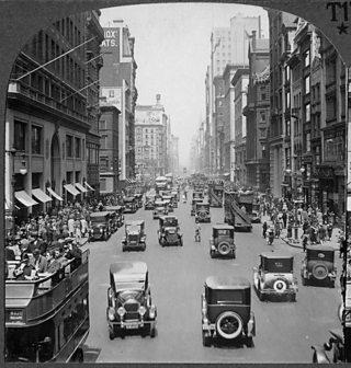 Photo of New York City circa 1920's
