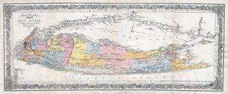 Map of Long Island, New York