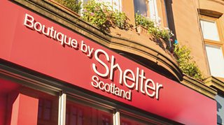 A Shelter Scotland charity shop on Byres Road, Glasgow