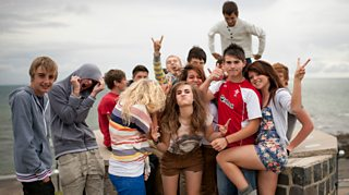 A group of teenagers in Aberystwyth
