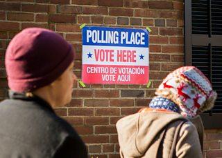 American voters at a polling station at Arlington, Virginia