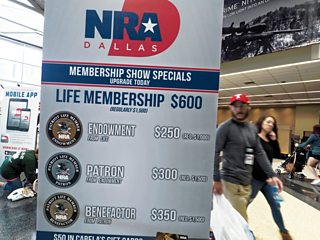 A National Rifle Association conference, Dallas, 2018