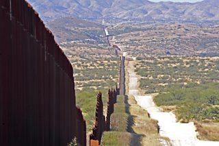 US-Mexico border fence in Santa Cruz County, Arizona, USA