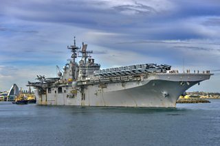 US Navy aircraft carrier USS Bonhomme Richard