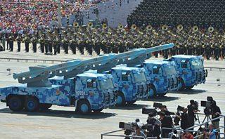 Chinese military parade, Tiananmen Gate, Beijing, 2015
