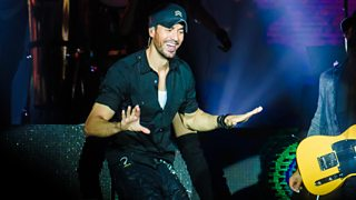 Enrique Iglesias performing on stage