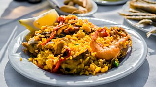 Plate of paella