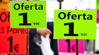 Special offer signs in Spain