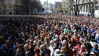 Protesters gather in Madrid