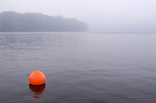 Buoy in the fog