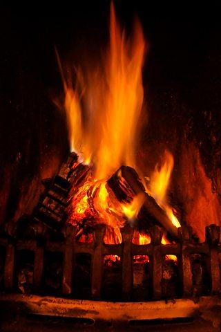 A peat fire