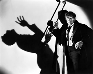 Fredric March portrays Mr Hyde in the 1931 film adaptation of Dr Jekyll and Mr Hyde