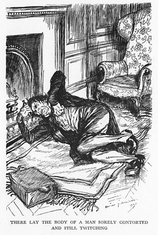 The body of Hyde in Jekyll's clothing. He lies twitching near death.
